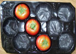 Recycle Plastic Fresh Fruit Packaging Tray