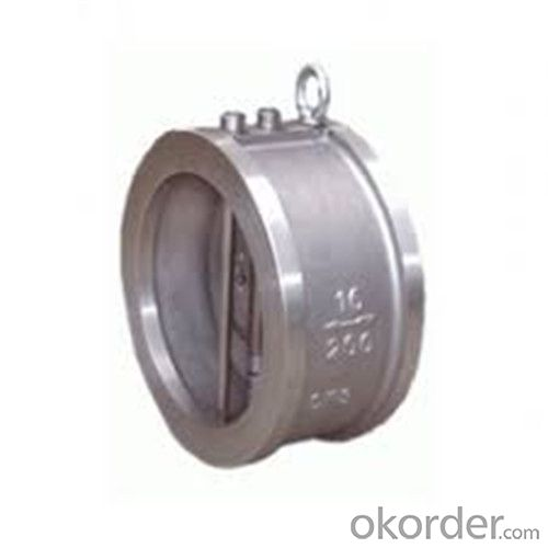Swing Check Valve Wafer Type Double Disc DN 200 mm