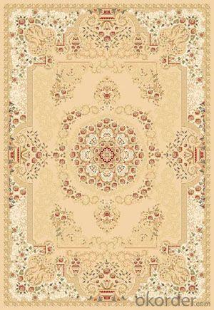 Viscose Rug Wilton Machine Beige Color Floor Carpet