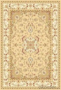 Viscose Rug Wilton Machine Modern Beige Color Washable Area Carpet