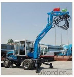 5ton wheel excavator with cotton grapple