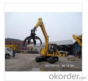 Steel grabbing excavator WY135 with 13 ton lifting capacity
