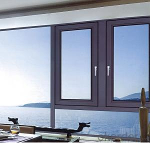 aluminum alloy thermal-break windows with double glass