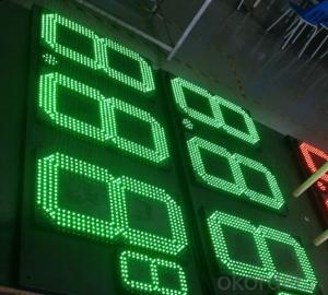 LED Display Outdoor 7 Segment for Gas Station in China Hot Sell