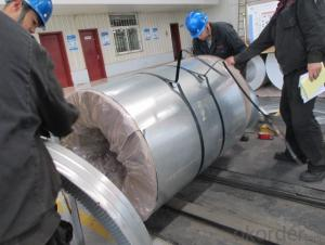 HOT DIP GALVANIZED STEEL SHEET IN COILS 0.13*750MM