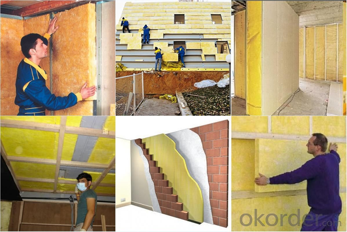 Buy glass wool glass wool insulation with aluminum foil for Fiberglass wool insulation