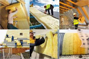 Glass wool insulation with one side FSK aluminium foil