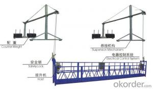 Steel Suspended Working Platform , Lightweight Temporary Access Equipment ZLP630