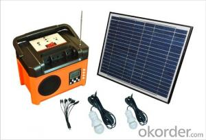 SOLAR  POWER SYSTEM  +FM RADIO +Built-in battery +USB