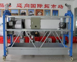 Pin Aluminum Suspended Working Platform Hanging Scaffold for 500kg 800kg 1000kg