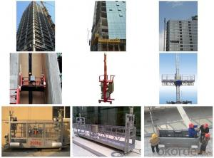 600kg Rated Capacity Suspended Elevators Installation Platform