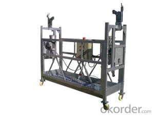 Aluminum Suspended Working Platform 380V 3 Phase ZLP630 With Electrical Control Box