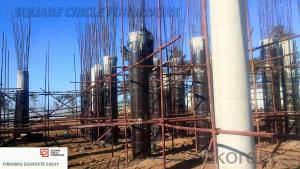 circular column formwork wooden lightweight for concrete column  circular pillar