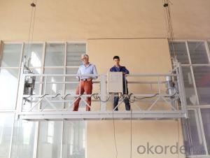 Alloy Aluminum Suspended Working Platform Gondola ZLP630 For Building Facade Maintenance