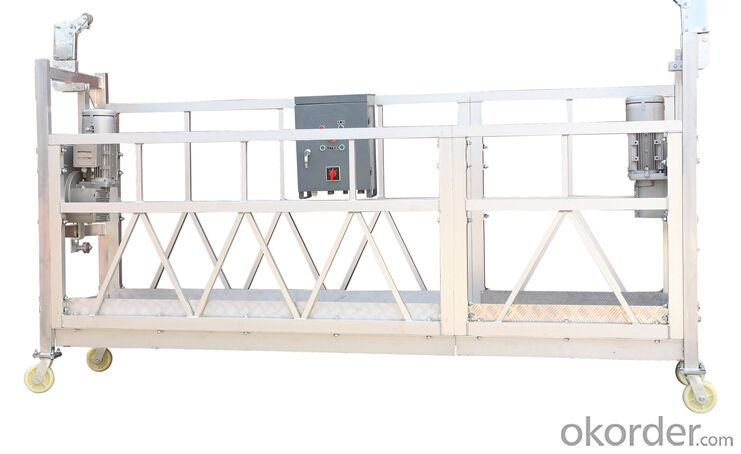 Pin Type Aluminum Suspended Working Platform Gondola ZLP800 With 100M Working Height