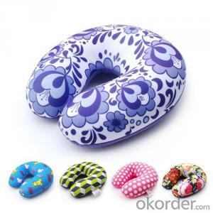 Travel Pillow With Beautiful Square Lattice Pattern