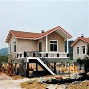 Steel Structural Prefabricated Villa / Typhoon Resistance Light Gauge Steel House