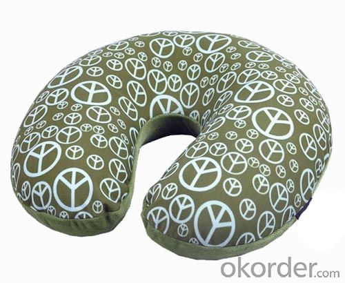 Great Soft Travel Pillow With Beautiful Pattern