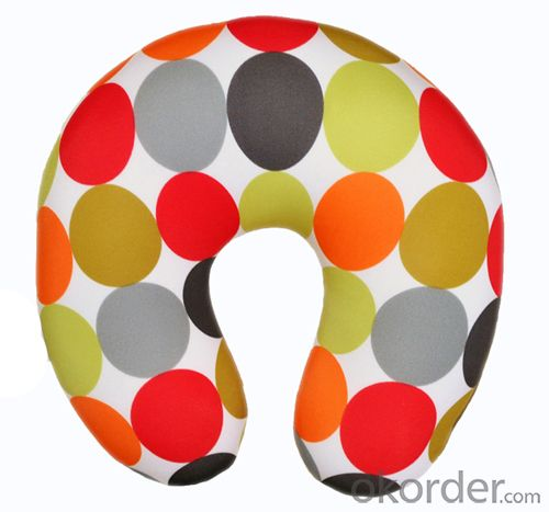 Nice Neck Cushion With Colorful Point Pattern