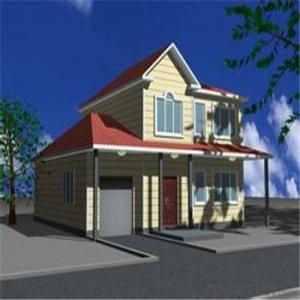 Prefab Steel House , Light Steel Frame Construction Villa With WPC Cladding