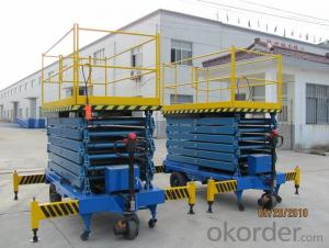 Industrial Self Propelled Aerial Work Platform380V / 50Hz 300 kg