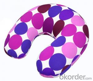 Most Comfortable Beads Pillow With Purple Point Pattern