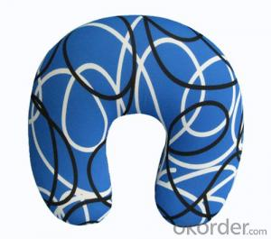 Nice Neck Cushion With Colorful Line Pattern