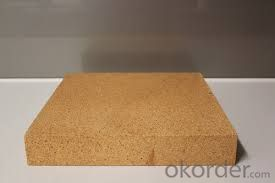 Clay brick of refractory brick for glass industry