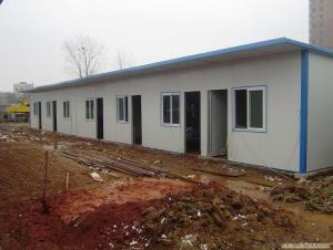 EPS Sandwich Panel Prefab House / Glass Wool Fireproof Prefabricated Home
