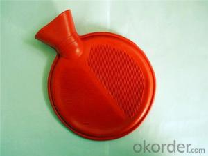 Rubber Round Hot Water Bottle 1000ml with 2 Side Rip