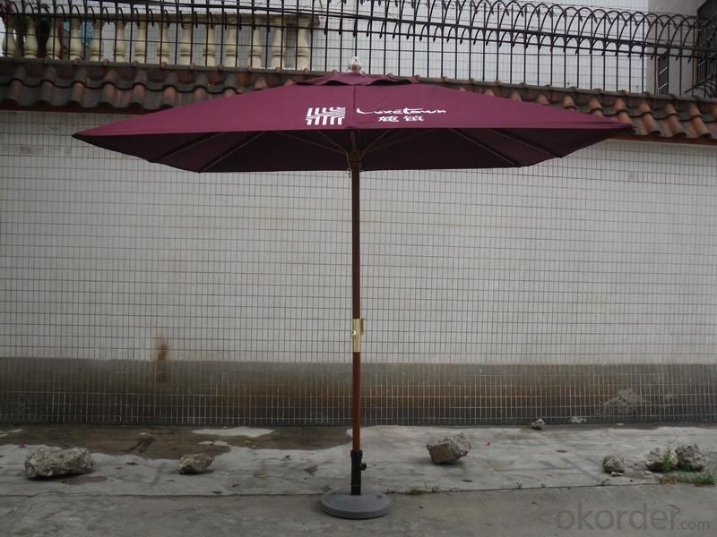 3*3m*8ribs aluminum square waterproof outdoor umbrella