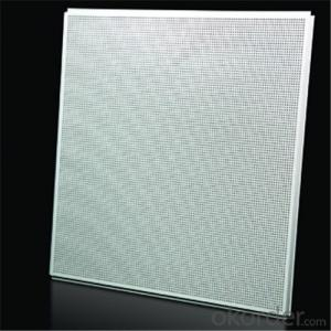 Aluminium Ceiling Lay In Type Plain Color White