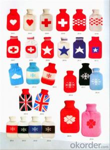 Knitted Hot Water Bottle Cover for 2000ml Hot Water Bottle 2 Side Rip