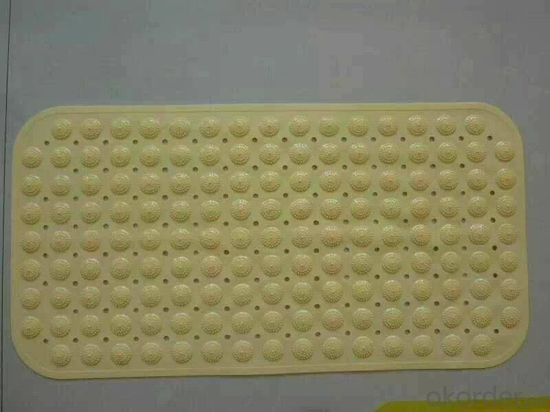 Anti Slip Bathroom Mat with Pure Rubber Material
