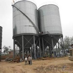 Hot dip galvanized flat bottom 5000t wheat silo for sale