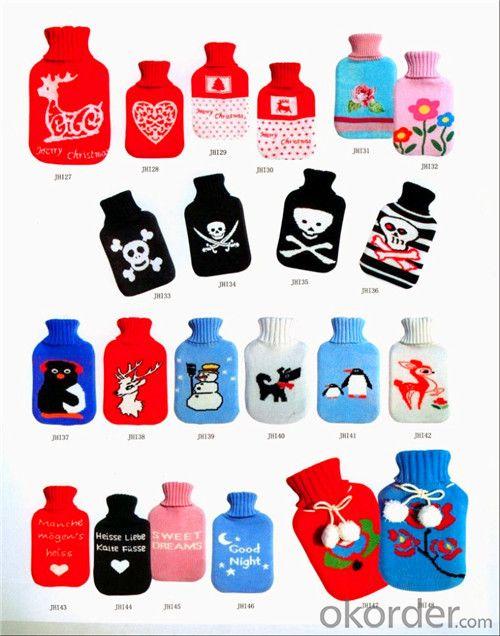 BS Standard Hot Water Bottle 2000ml 2 Side Rip