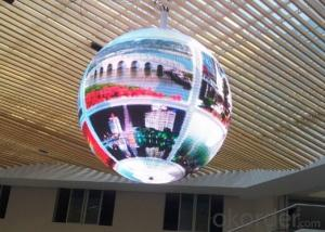 LED Display P10 Ball Shape Led Advertising Display RGB 3D