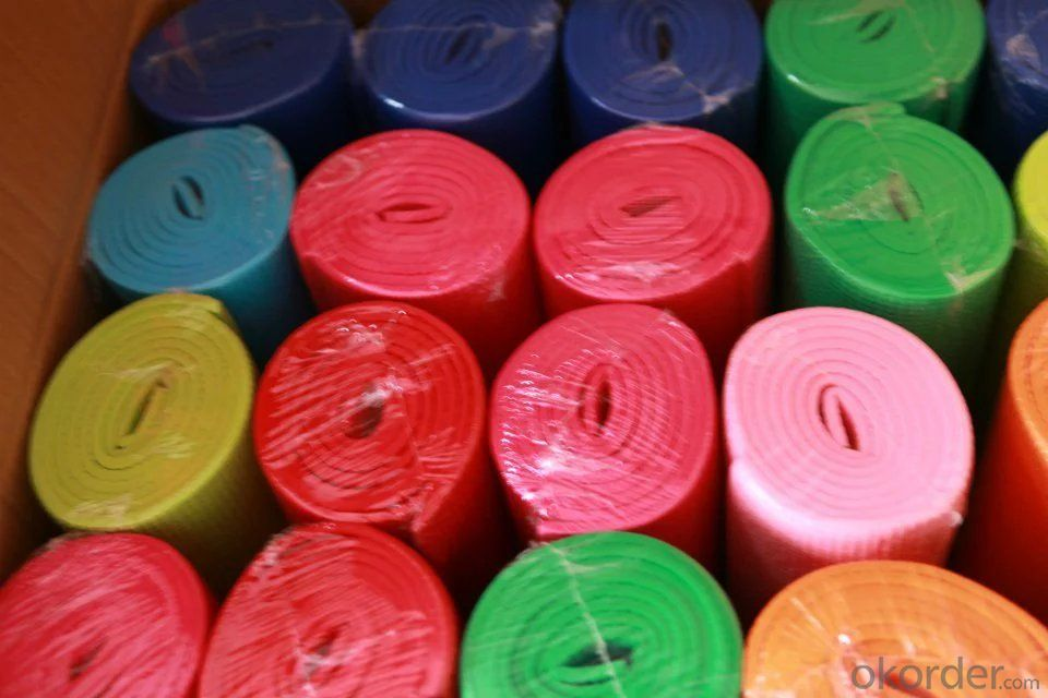 Rubber Yoga Mat with PVC Free and Excellent Dyeability
