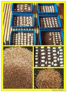 golden yellow expanded/exfoliated vermiculite for agriculture