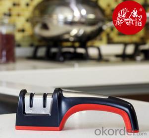 Kitchen Knife Sharpener with anti-slip Base Diamond sharpening Tools