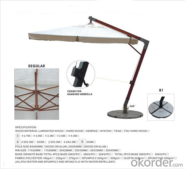 Outdoor Umbrellas/Parasol with Strong Structure