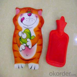 Toy Hot Water Bottle with Cover 2000ml 2 Side Rip