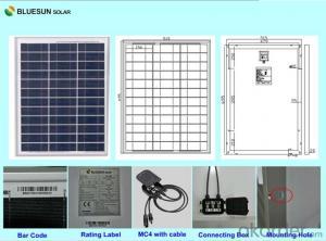 Polycrystalline Silicon Solar Modules 40Watt