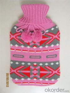 Europe Standard Hot Water Bottle 2000ml 2 Side Rip