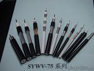 PE physical foaming insulated coaxial RF cable SYWV(Y)-75-5