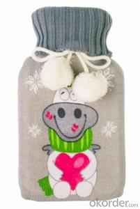 Normal Hot Water Bottle 2000ml 2 Side Rip International Standard