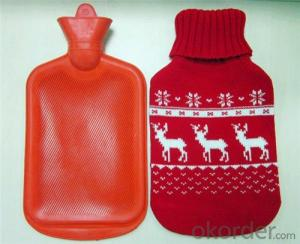 Animal Hot Water Bottle 2000ml with Cover 2 Side Rip