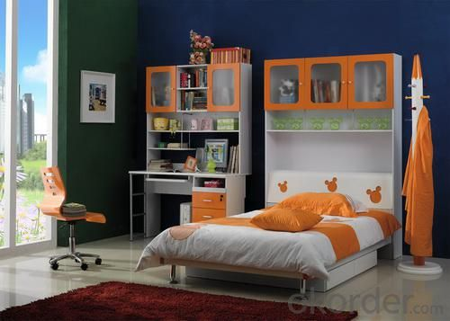 2015 Yellow Color Child Bed with Under Drawer