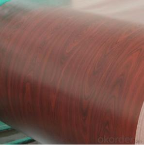 Print Prepainted Galvanized Steel Coil Brown Wooden Pattern