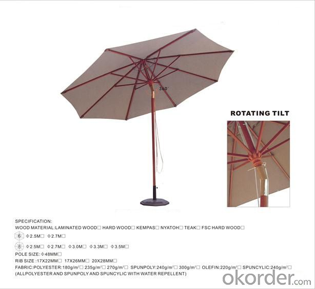 Strong Frame Waterproof Outdoor Umbrella
